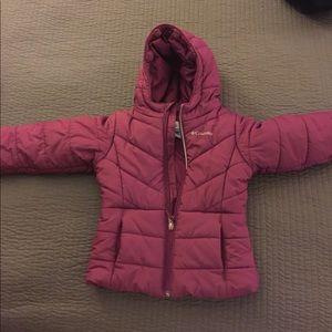 Columbia maroon girls coat